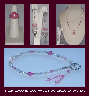 Classy and Casual Crystalwear Breast Cancer Awareness Jewelry Varieties